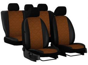 Copri sedili su misura In pelle con stampa AUDI A6 C6 (2004-2011)