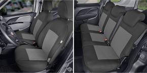 Housse de siège de voiture sur mesure Tailor Made pre FIAT DOBLO IV 5p. (2015→)