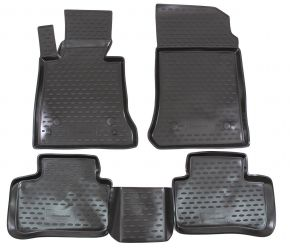 Tappeti in gomma MERCEDES GLK-Class X204 2008-up  4 pz