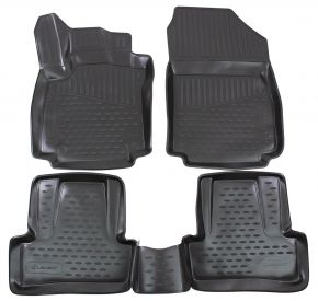 Tappeti in gomma RENAULT Clio IV 2012-up 4 pz