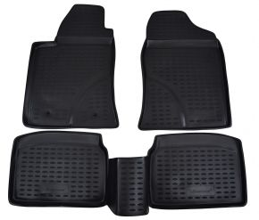 Tappeti in gomma TOYOTA Avensis  2003-2009  4 pz