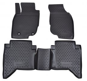Tappeti in gomma TOYOTA Hilux  2011-2015  4 pz