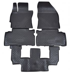 Tappeti in gomma TOYOTA Verso  3 rows 2009-2013  5 pz