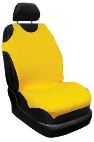T-shirt auto 100% Cotone, giallo, anteriori 2 pz. + posteriori