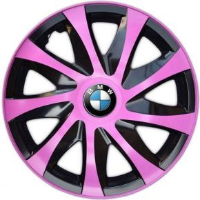 "Copricerchi per BMW 14"", DRACO ROSA 4 pz"