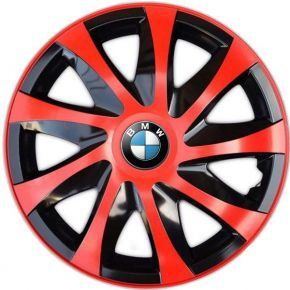 "Copricerchi per BMW 16"", DRACO ROSSO 4 pz"