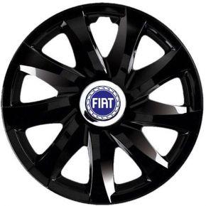 """Copricerchi per FIAT 13"""", DRIFT NERO LACCATO 4 pz"""