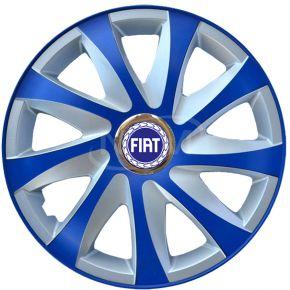 "Copricerchi per FIAT 14"", DRIFT EXTRA blu-argento  4pz"