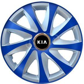 """Puklice pre KIA 16"""", DRIFT EXTRA modro-strieborné  4ks"""