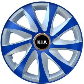 "Copricerchi per KIA 15"", DRIFT EXTRA blu-argento  4pz"