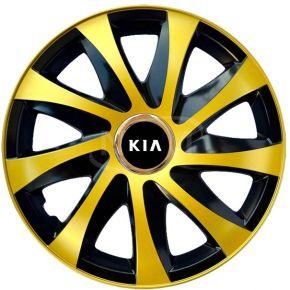"""Copricerchi per KIA 15"""", DRIFT EXTRA oro 4pz"""