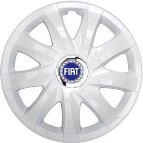 """Copricerchi per FIAT BLUE 16"""", DRIFT BIANCO LACCATO 4 pz"""