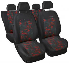 Copri sedili universali Elegance rosso