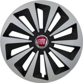 "Copricerchi per Fiat Red 14"", Fox, 4 pz"