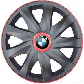 """Copricerchi per BMW 16"""", KANDO RACE rosso 4pz"""