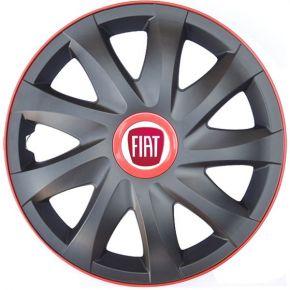 """Copricerchi per FIAT 14"""", KANDO RACE rosso 4pz"""