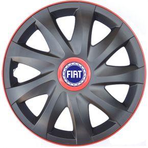 """Copricerchi per FIAT 16"""", KANDO RACE rosso 4pz"""