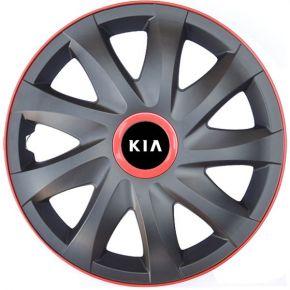 """Copricerchi per KIA 15"""", KANDO RACE rosso 4pz"""