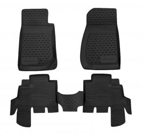 Tappeti in gomma JEEP WRANGLER 4 DOORS 2007-up, 4 pz