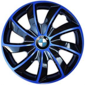 "Copricerchi per BMW 14"", QUAD BICOLOR BLU 4 pz"