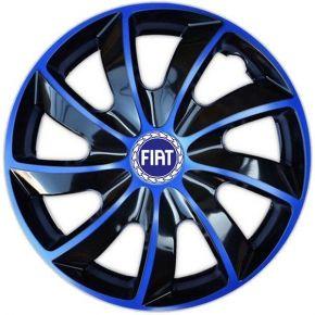 """Copricerchi per FIAT BLUE 15"""", QUAD BICOLOR BLU 4 pz"""