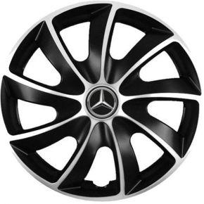 """Puklice pre Mercedes 15"""", Quad bicolor, 4 ks"""