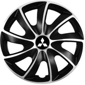"""Puklice pre Mitsubishi 14"""", Quad bicolor, 4 ks"""