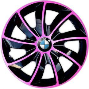 "Copricerchi per BMW 14"", QUAD BICOLOR ROSA 4 pz"
