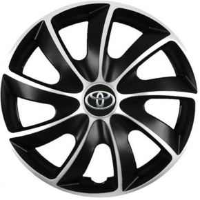 """Puklice pre Toyota 15"""", Quad bicolor, 4 ks"""