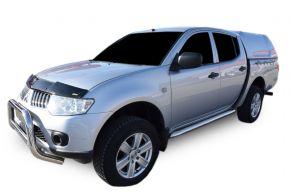 Telai laterali in acciaio inox per Mitsubishi L200 2007-2016 4D (76mm)