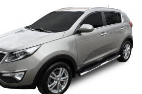 """Telai laterali in acciaio inox per Kia Sportage 2009-2015 4""""oval"""