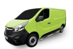 Telai laterali in acciaio inox per Opel Vivaro 2002-2011
