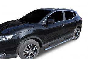 "Telai laterali in acciaio inox per Nissan Qashqai 2014-2019 4"" oval"