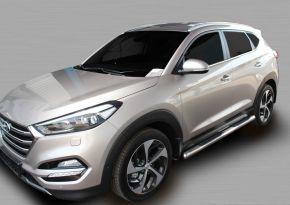 Telai laterali in acciaio inox per Hyundai Tucson 2015-up