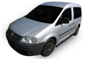 Telai laterali in acciaio inox per Volkswagen Caddy 2003-2015, 60,3 mm BLACK