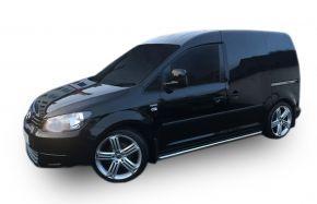 Telai laterali in acciaio inox per Volkswagen Caddy 2003-2015, 60,3 mm