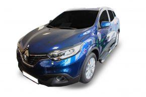 """Telai laterali in acciaio inox per Renault Kadjar 2015-2019 4"""" oval"""