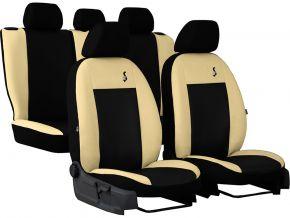 Copri sedili universali In pelle ROAD beige