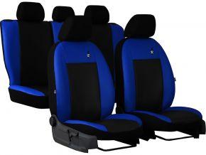 Copri sedili universali In pelle ROAD rosso blu