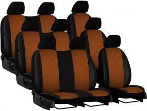 Copri sedili su misura In pelle con stampa VOLKSWAGEN T6 9p. (2015→)