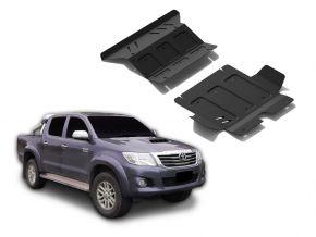 Opertura del motore e radiatore in acciaio per Toyota Hilux 2,5TD; 3,0TD; 2,7  2007-2015