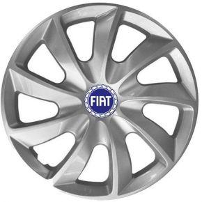 """Copricerchi per FIAT BLUE 14"""", STIG GRIGIO LACCATO 4 pz"""
