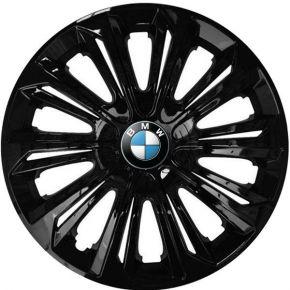 """Copricerchi per BMW 15"""", STRONG NERO LACCATO 4 pz"""