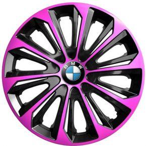 "Copricerchi per BMW 15"", STRONG DUOCOLOR ROSA-NERO 4 pz"