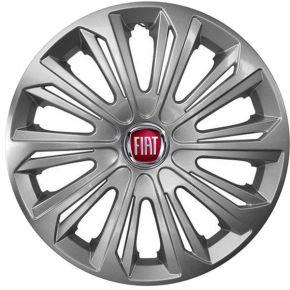 """Copricerchi per FIAT 15"""", STRONG GRIGIO LACCATO 4 pz"""
