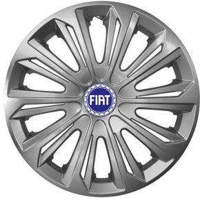 """Copricerchi per FIAT BLUE 15"""", STRONG GRIGIO LACCATO 4 pz"""