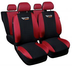 Copri sedili universali TUNING rosso